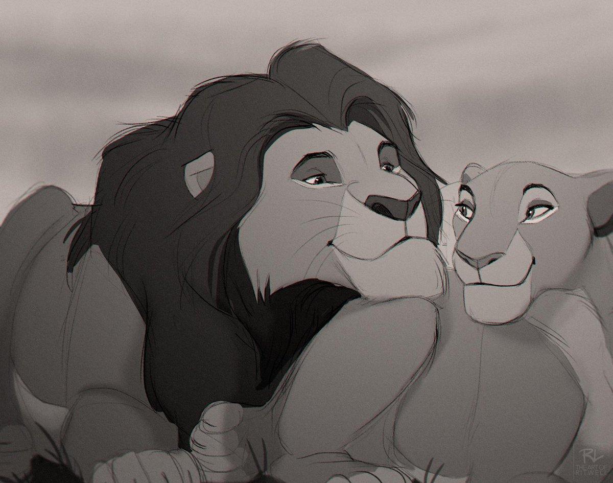 takin a nostalgia trip with some lion king fanart using real lion refs waaaa 🦁❤️
