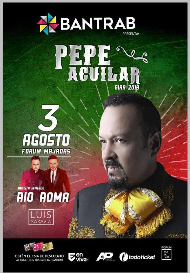 Pepe Aguilar en Guatemala junto a Rio Roma