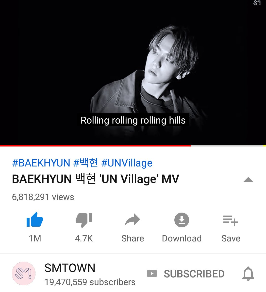 'UN Village' MV now has 6.8 million views on YouTube. Keep streaming EXO-L!    https://www. youtube.com/watch?v=-EfjXQ gE1e8   …   #백현 #BAEKHYUN @B_hundred_Hyun #BAEKHYUN_UNVILLAGE <br>http://pic.twitter.com/KUuuxoEqF3