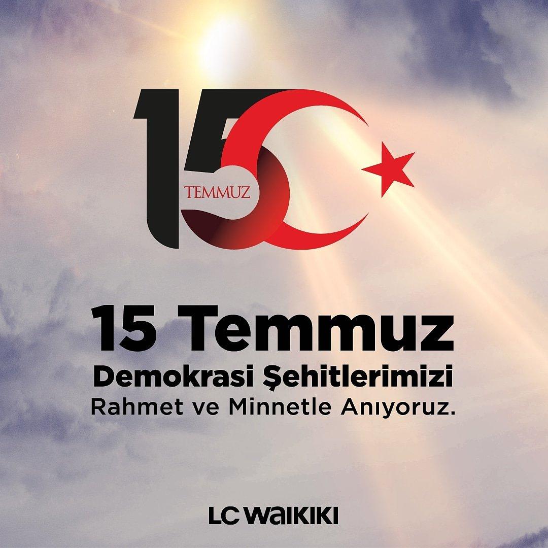15 Temmuz Demokrasi ve Milli Birlik Günü'nde tüm şehitlerimizi rahmet ve minnetle anıyoruz. #15temmuz #DemokrasiveMilliBirlikGünü https://t.co/jGeFOuiTHD