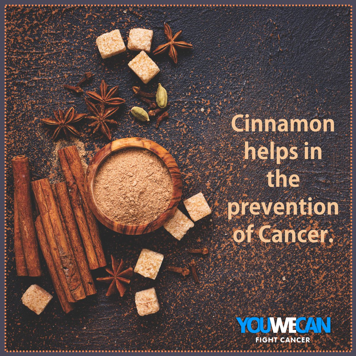 Cinnamon is an age old spice, which is well-known for its health benefits including its ability to reduce blood sugar and inflammation!It reduces the risk of cancer, also helps block the spread of cancer cells. @YUVSTRONG12 @hazelkeech