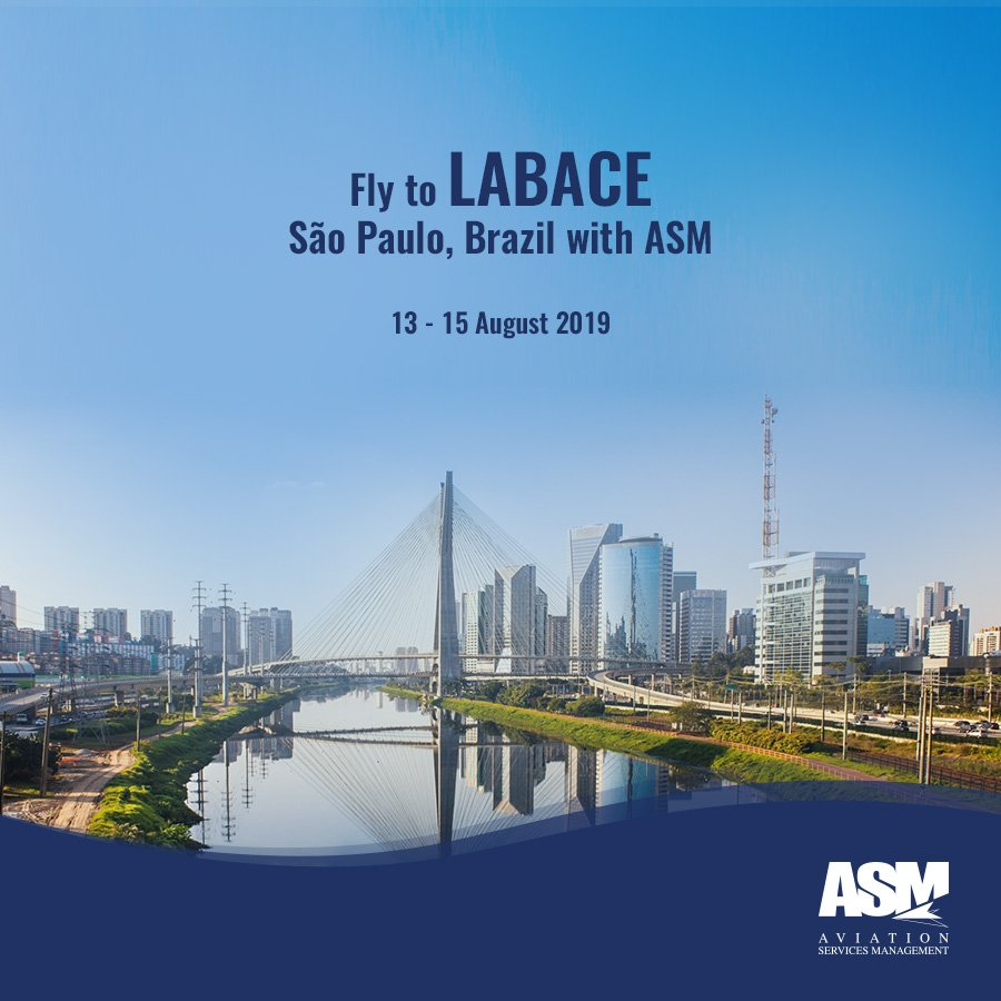 Travelling to the leading aviation convention in Latin America, 'LABACE'? ASM can support any aspect of your private charter flight, from trip planning to fuelling and ground handling at São Paulo, Brazil. For inquiries, contact us at sales@asm.aero. #bizav #aviation #tripsupport