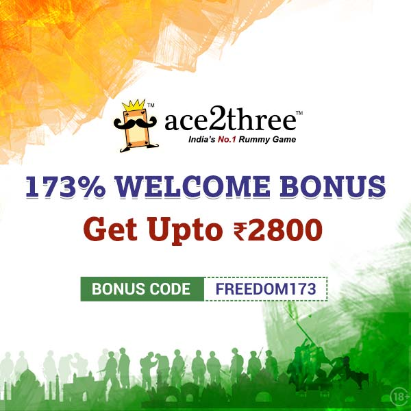 Celebrate the joy of Freedom with Ace2Three Rummy! 🙌🙌 Come and Play Rummy at Ace2Three - Indias No.1 Rummy Game :) Play Now => bit.ly/ace2threerummy #ace2three #rummy #MondayMotivation