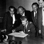 Image for the Tweet beginning: 15th July 1962: Striker Denis