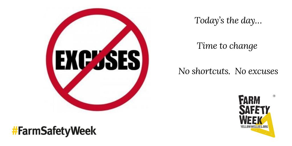 Heddiw yw'r diwrnod….Amser i newid - dim esgeulustod. Dim esgusodion. ❗️ #WythnosDiogelwchFferm  Today's the day…Time to change – No shortcuts. No excuses. ❗️ #FarmSafteyWeek  @yellowwelliesuk