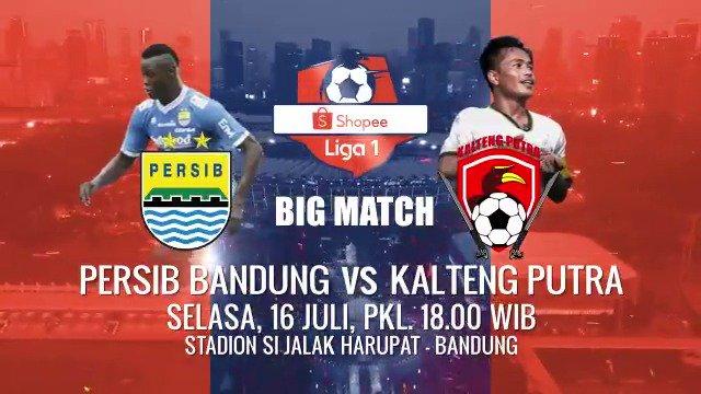 #ShopeeLiga1 akan hadir lagi nih besok, saksikan duel seru yang mempertemukan @persib melawan @KaltengPutraKu di minggu ke-8 Nantikan keseruannya besok malam pukul 18.00 WIB di Indosiar dan @vidio