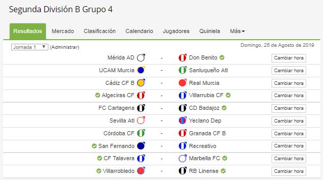 📆 CALENDARIO COMPLETO del grupo IV de Segunda División B ...