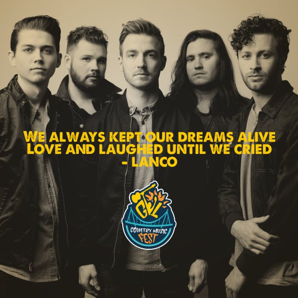 Greenville is sure to bring all the love and laughter! LANCO never disappoints! Join us August 31! Buy your tickets here: http://gvlfest.com ! #gvlfest2019 #greenvillecountrymusicfest #countrymusic #olddominion #gythnation #greenvillesc #johngurney #filmore #lanco #fluorfield