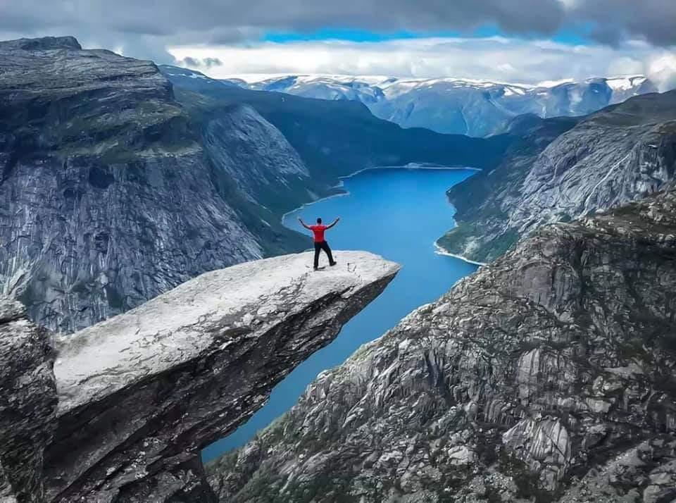 #MondayMotivation Trolltunga, Fjord #Norway © Miloš Ranđić #Scandinavia #travel #hiking #fjords @epicfjords @fjordnorway @turistforening