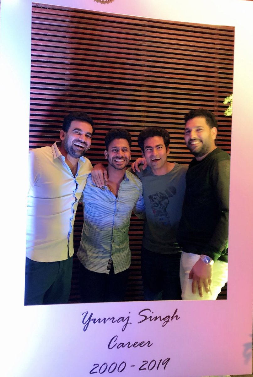 Some seniors r so best that they r not like seniors, they r just like brothers @YUVSTRONG12 @ImZaheer @MohammadKaif 👍🤗