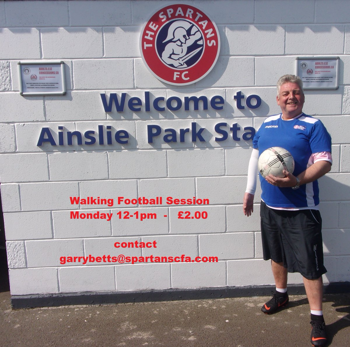 Join the gang! Waking football for all abilities at The Academy on today 12-1pm. Email garrybetts@spartanscfa.com or call 0131 552 7854 for more info. #walkingfootball #edinburgh<br>http://pic.twitter.com/rztBpdZBdg