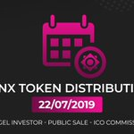Image for the Tweet beginning: #Bcnex #Bcnx #TokenDistribution #ICO  ⏰ Time: