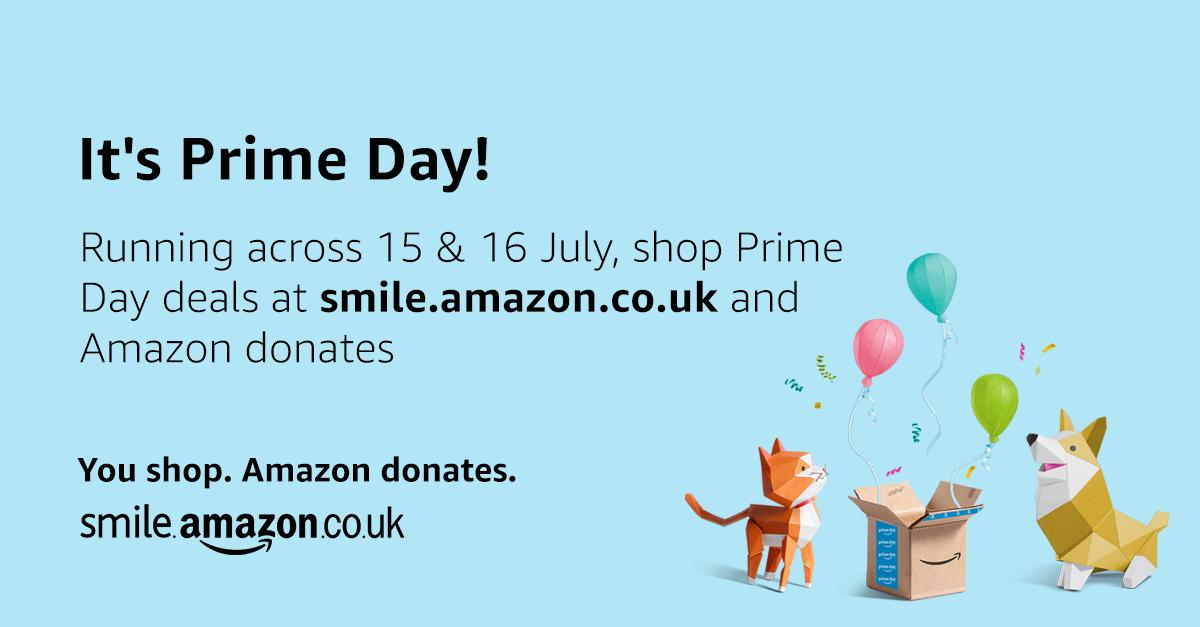 You can make a difference to our charity while you shop Amazon Prime Day deals. Simply nominate us as your @amazonsmile charity and shop at smile.amazon.co.uk/ch/1124936-0 and Amazon donates to @CharityTBF