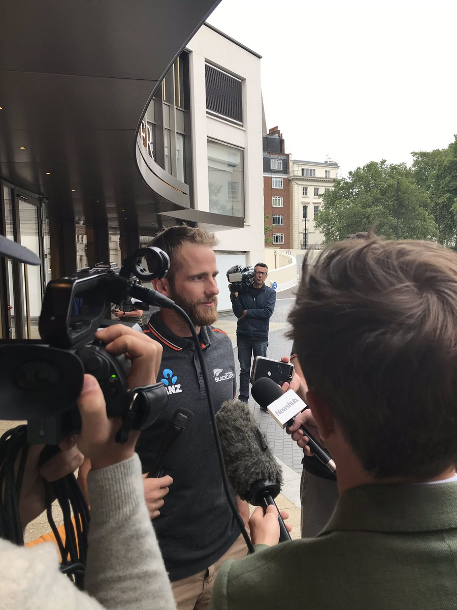 """The @BLACKCAPS captain Kane Williams says the disappointment """"hits you in waves"""" """"you wake up and think it's a bad dream"""" .. he says """"the guys are gutted .. truly gutted"""" .. it's an """"odd feeling to not have a loser in the match but have a winner """" @1NewsNZ"""
