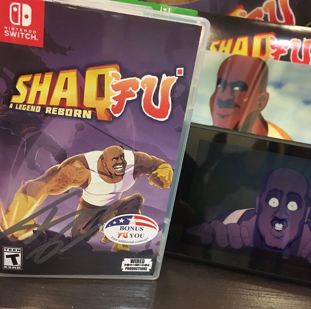 One for the #SwitchCorps!  We got @SHAQ to sign copies of Shaq Fu: A Legend Reborn!  Wanna #WIN one?    Follow & RT + reply with #Shaqshitgame!   Winner picked at the end of this week!  #CompetitionTime #Competition #PrizeDraw #ShaqFu #NintendoSwitch #Shaq <br>http://pic.twitter.com/A2PCMvfHgg