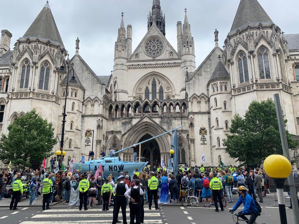 Extinction rebellion have started simultaneous protests in Cardiff, Leeds, Bristol, Glasgow and at the Royal Courts of Justice in London - calling for action on climate change