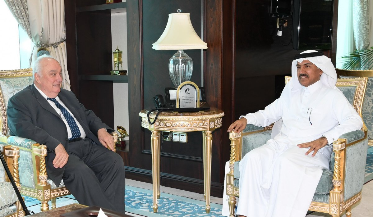 Secretary General of Ministry of Foreign Affairs Meets Pugwash Secretary General bit.ly/2YT6t3d #MOFAQatar