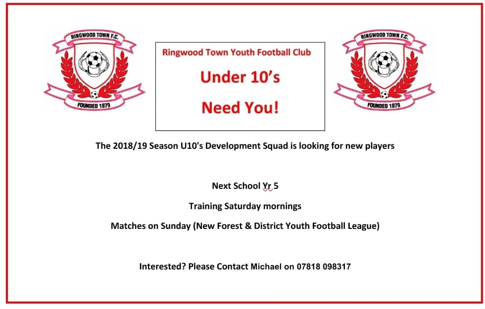 Parents As Equal Participants In Team >> Michael Butcher On Twitter Ringwoodtownfc U10 Are Looking For