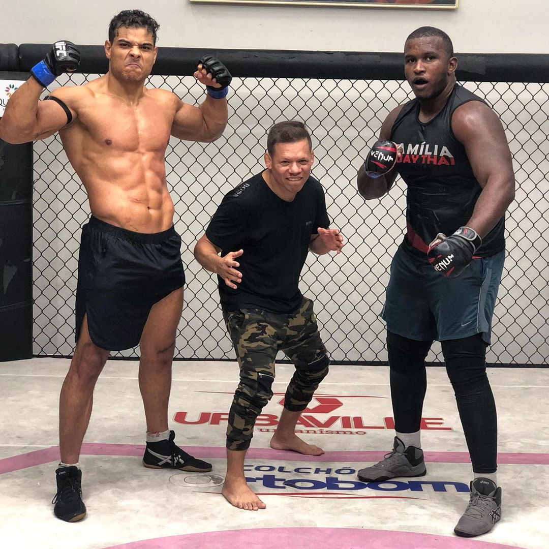 Almost there ! Wrestling with the best coach of year @CPTdasAmericas and my partner @israeloliveiracardoso @teamborracha_oficial . August 17th - UFC 241.