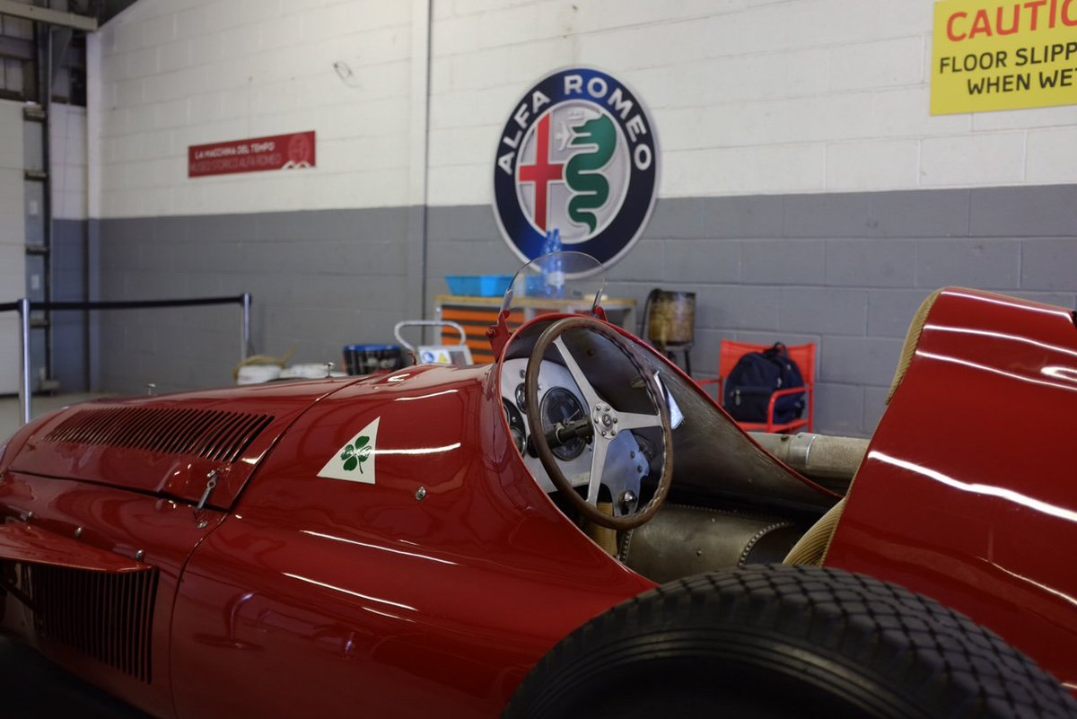 Museum Heroes #F1. Congratulations on the preparation of the Alfetta 159.  Thank you to Museo Storico Alfa Romeo staff for making my weekend special. #Alfetta #BritishGP @alfaromeoracing @AlfaRomeoUK @marc_gene . https://www.museoalfaromeo.com/en-us/news/Pages/10072019_Alfetta159aSilverstone.aspx …
