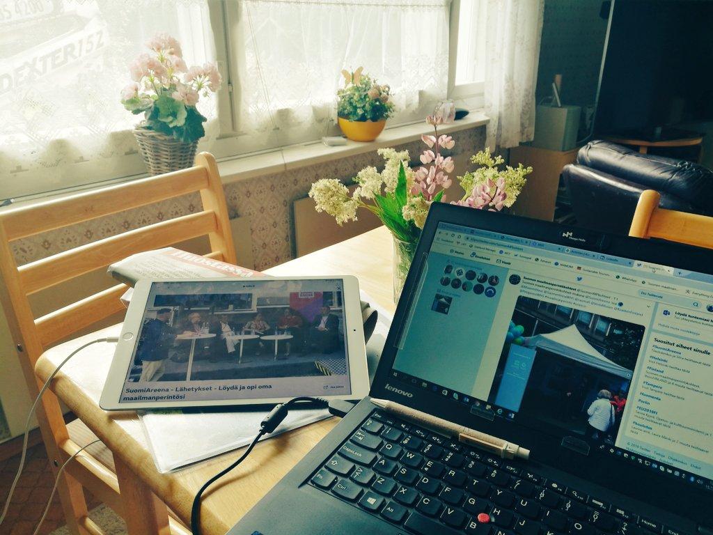 Melkein kun olisin #Pori'ssa, vaikka olenkin Alvar Aallon tyyppitalossa Mätäsvaarassa. Onneksi livestream toimii. SuomiAreenassa menossa @SuomenMPkohteet ja @Maanmittaus paneeli Löydä ja opi #maailmanperintö'si, jota moderoi @rikurantala. #kotimaanmatkailu