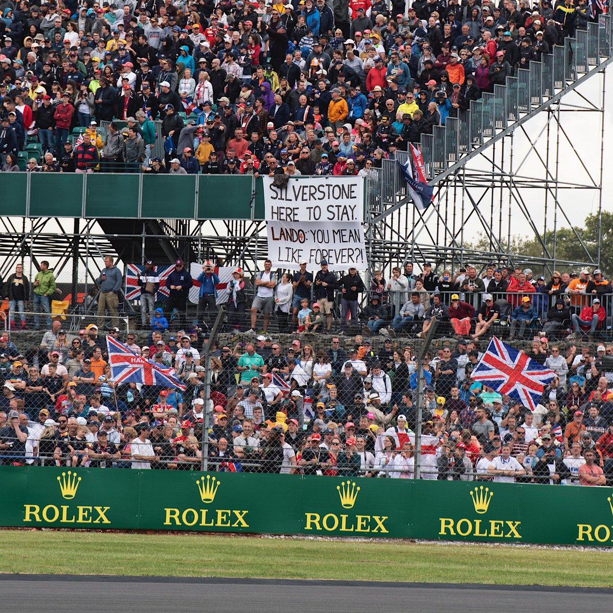 Hahaha @SilverstoneUK. It's good to keep ya' #BritishGP