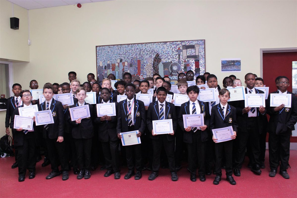 Morning  We're now in the run up (down?) to the end of term & Commendation Assemblies are happening this week.  Today was Yr 7 - brace yourselves for a few pictures!  Here's the Group shot - took some persuading to get them all in frame!  #WellDoneBoys