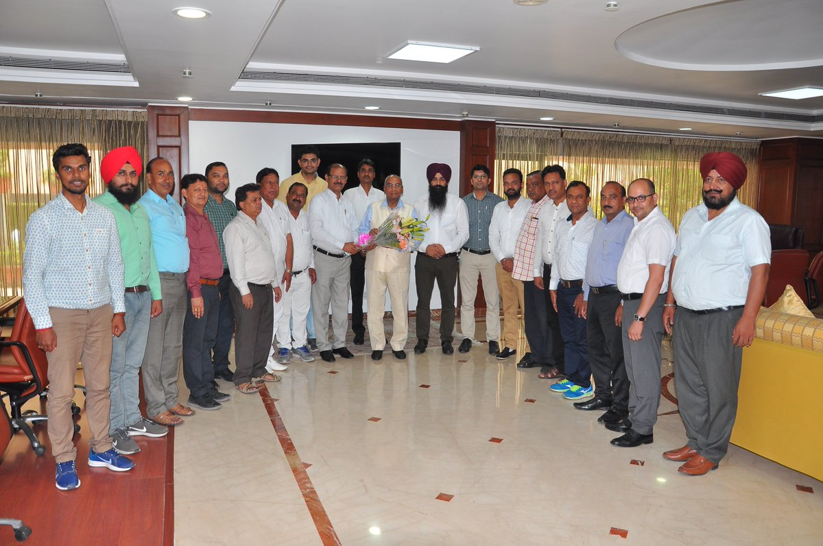 Glad to meet newly elected members of #IFFCO Employees Union at my office today. Heartiest Congratulations to Sh. Brajesh Kumar for his election as President of #IFFCO Employees Union (HO & Mkt) and other members of Employee Union & Central Executive Committee.