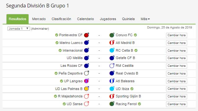 Calendario Segunda B Grupo 1.Calendario Completo Del Grupo I De Segunda Division B Haz Clic