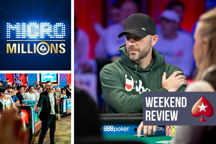 "What a weekend.  They're down to five in the WSOP Main Event (#LFGGG), the MicroMillions kicked off on PokerStars, and Russia's ""kolobcheena"" won the Sunday Million for $108K.  Here's everything you need to know: https://psta.rs/2Shb78m"