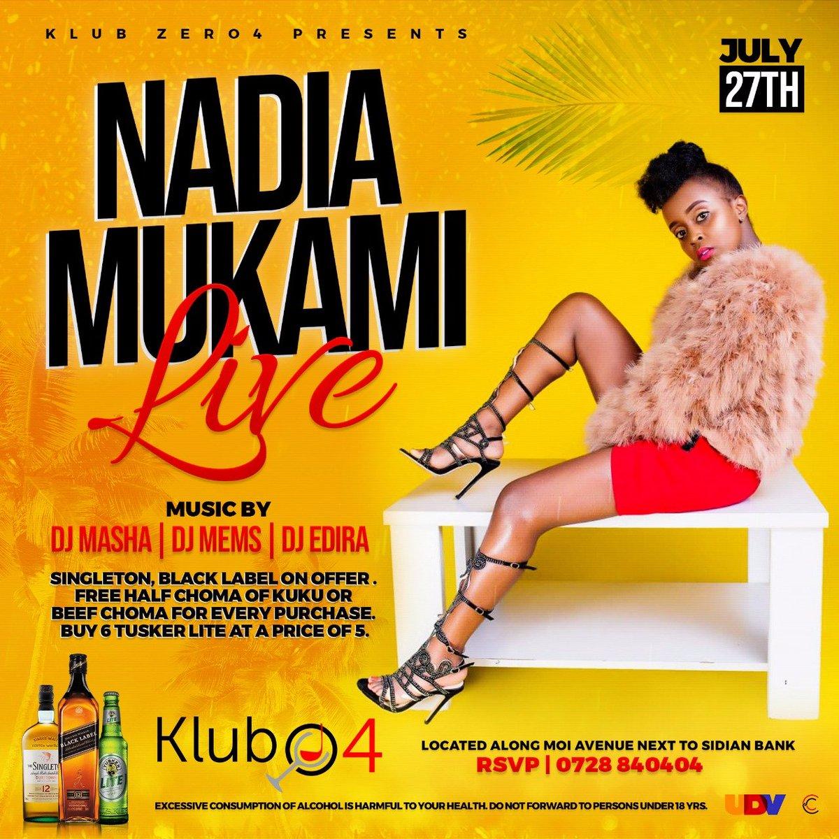 i will be hosting @nadia_mukami next saturday  @klubzero4 mombasa cbd . it will be lit . mark your calendars . #dj #mystyle #thethrillingone #NadiaMukamiLive #gainwithxtiandela #gainwithcarlz #gainpost #gaintrain #gainwithbundi #gainfollowers #mombasa #kenya<br>http://pic.twitter.com/jpHQiSShQQ