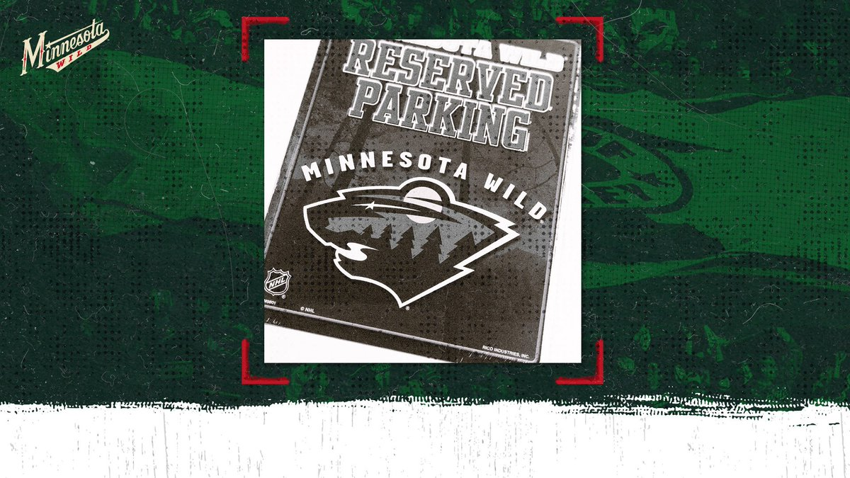 Perfect for any #mnwild fan cave...   RT to enter to win this sign. One random winner.   #NationalGiveSomethingAwayDay