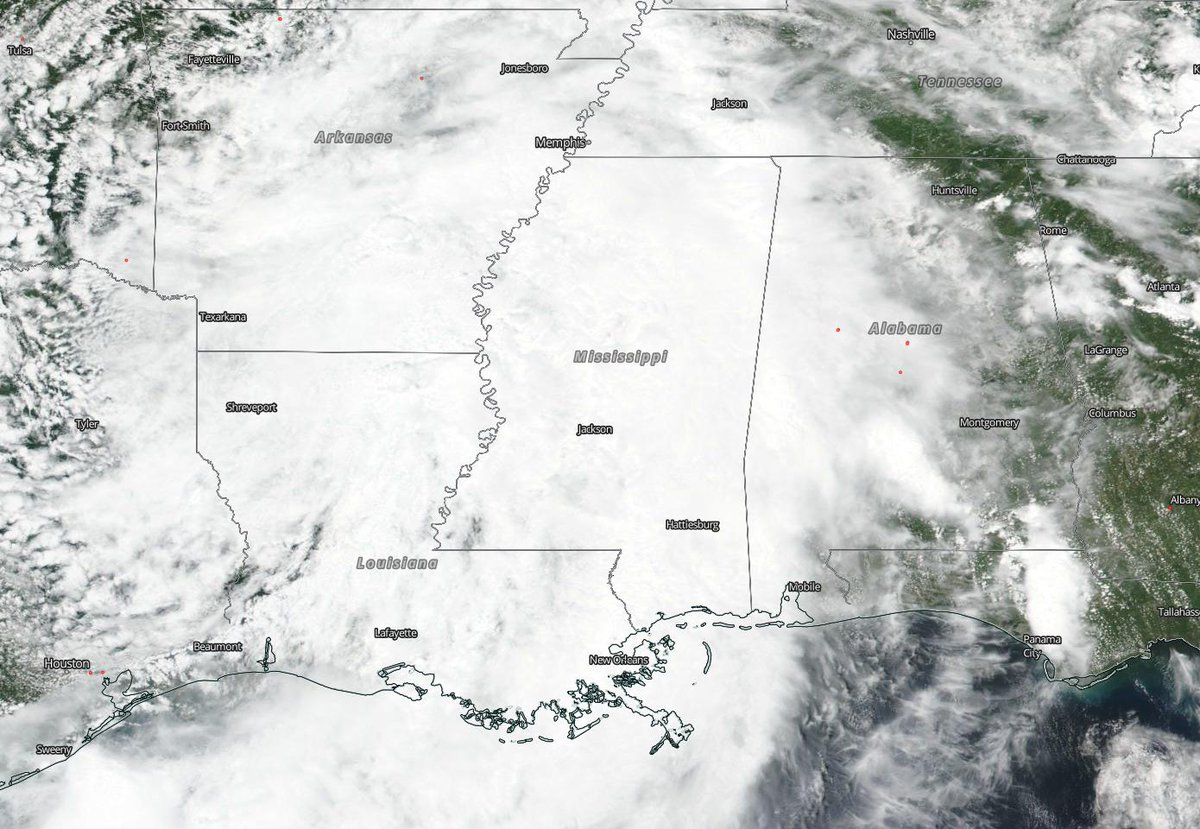 Atlantic- NASA-NOAA Satellite Tracking #Barry Through Louisiana, Arkansas NASA-NOAA's Suomi NPP satellite passed over the south central United States yesterday, July 14 and captured a visible image of then #TropicalStormBarry. STORY>   https:// blogs.nasa.gov/hurricanes/201 9/07/15/barry-was-td2-atlantic-ocean-9/   … <br>http://pic.twitter.com/QYOYJJKqP7