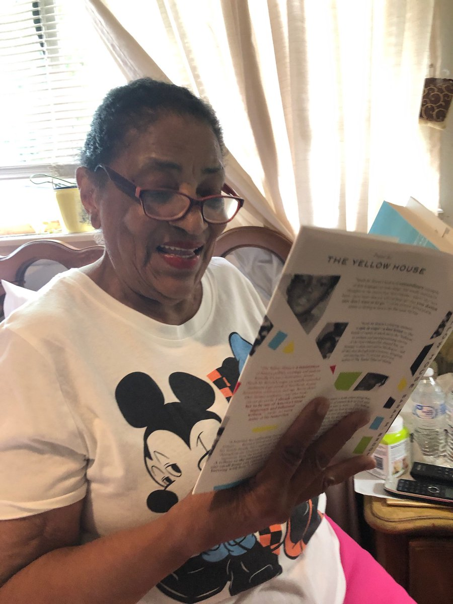 The ONLY reader that matters. My Mother, Ivory Mae, reading and already critiquing. I delivered her a finished copy of the book that she helped me compose. This is a moment of immense joy!