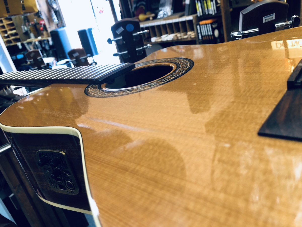 Don't mind us. We are just showing this Godin classical some TLC it so desperately needed. Does your instrument need some help. Bring it in to your techs and let us take care of it. 1051 Kingston Road.  #wearemusic #guitarrepair #instrumentrepair<br>http://pic.twitter.com/yCy8yu5vel