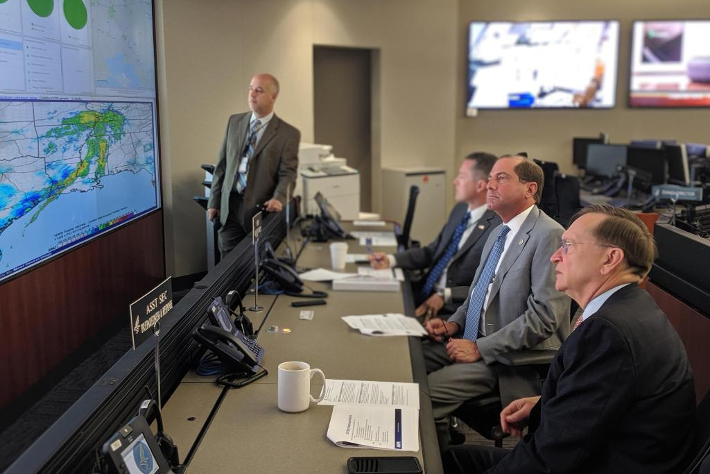Was briefed by @PHEgov this morning on #Barry's impact in Louisiana. We continue to work closely with state health and local officials to protect the health of impacted communities. #HurricaneBarry #TropicalStormBarry <br>http://pic.twitter.com/2JgN2X5mkd