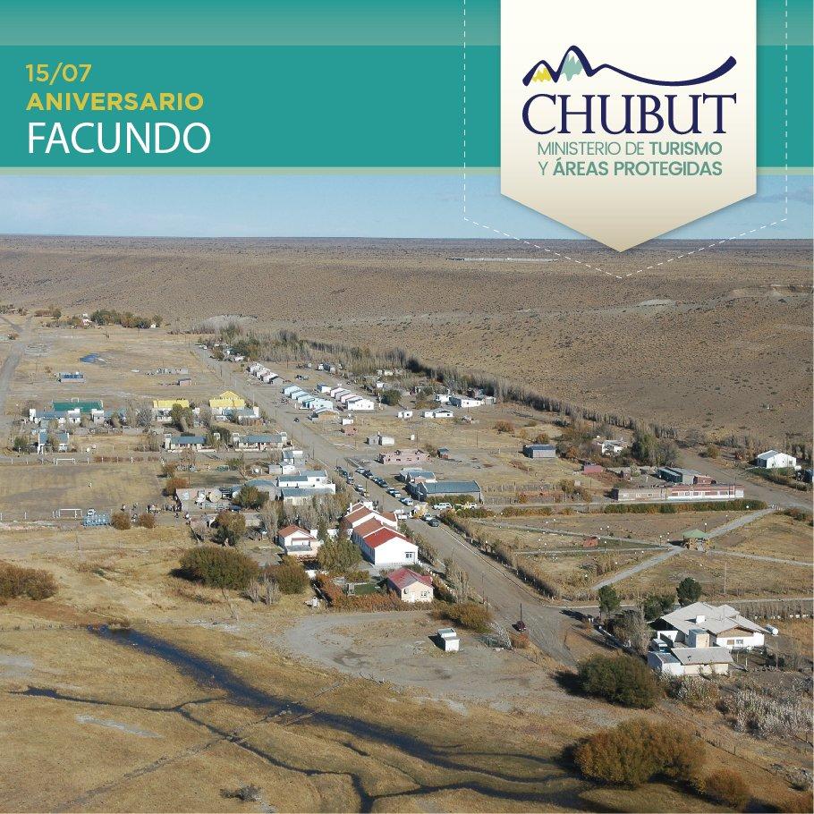 ➡️ ¡Feliz aniversario #Facundo! 👉 Ubicado al noroeste de #Chubut, es un oasis de tranquilidad sobre la #Ruta40 👉 De noviembre a mayo, es destino para la pesca deportiva