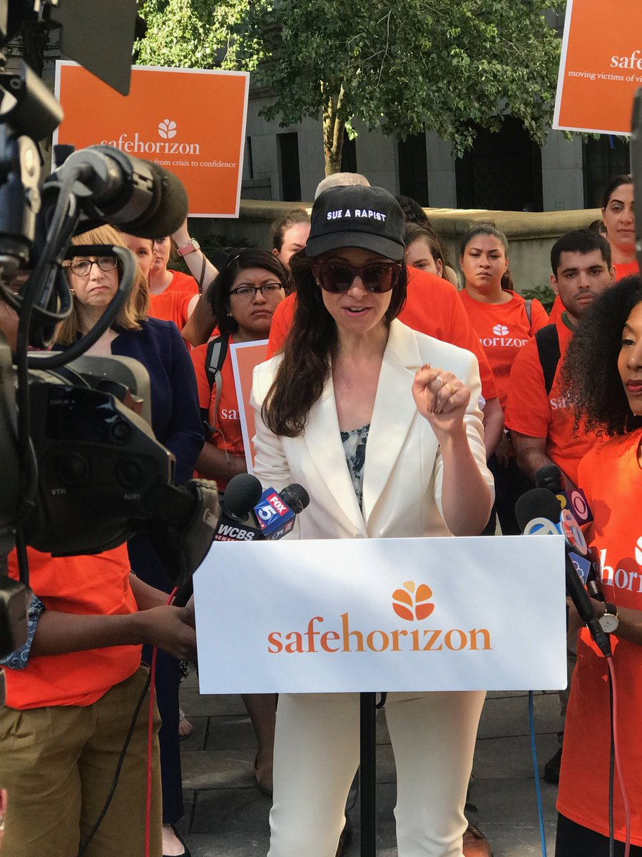 Today before the Epstein hearing we had a press conference to talk about the #ChildVictimsAct with @SafeHorizon. Law enforcers have a monopoly on who gets criminally punished. But with the CVA, survivors get to decide if/when/how to sue the hell out of abusers.