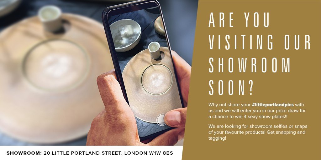 Are you visiting our showroom this month?   Don't forget to tag us in your showroom pics and we will enter you in our prize draw for a chance to win 4 show plates!  #competition #prizedraw #chefs<br>http://pic.twitter.com/t3OVVxzlZ5