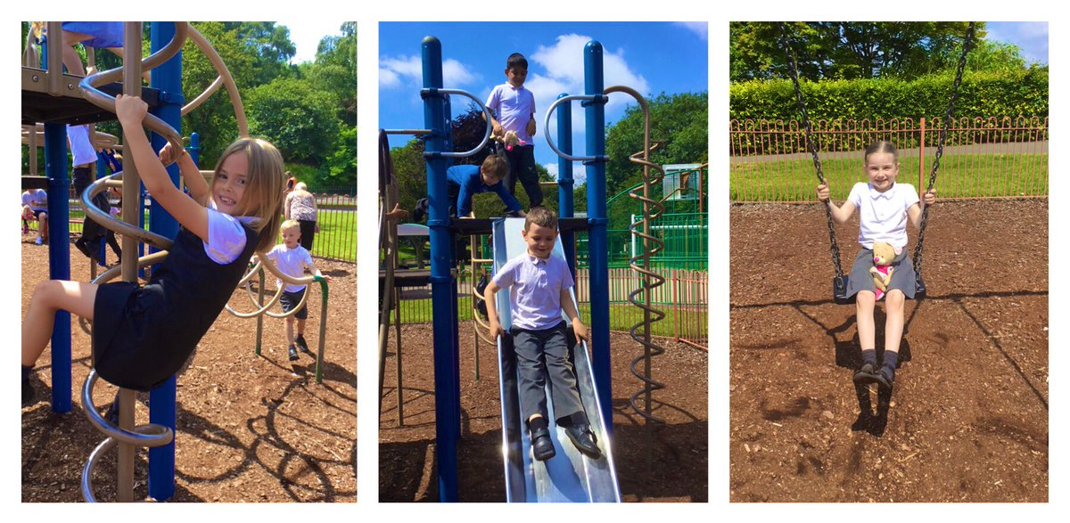 Year 1 are enjoying playing in the park. @the_atlp