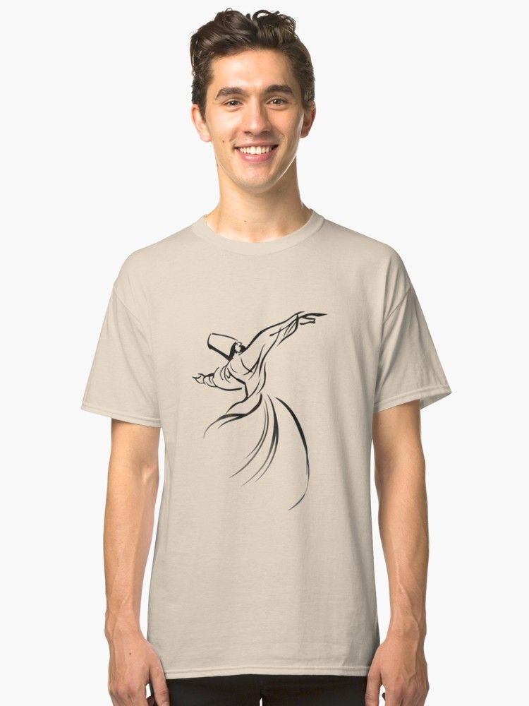 #Sufi #Meditation #Tshirt by taiche | Redbubble #Affordable and excellent quality, #quirky design and it made a fantastic #gift. #ATSocialMedia @redbubble Choice of 17 colors https://buff.ly/2lnBEVe