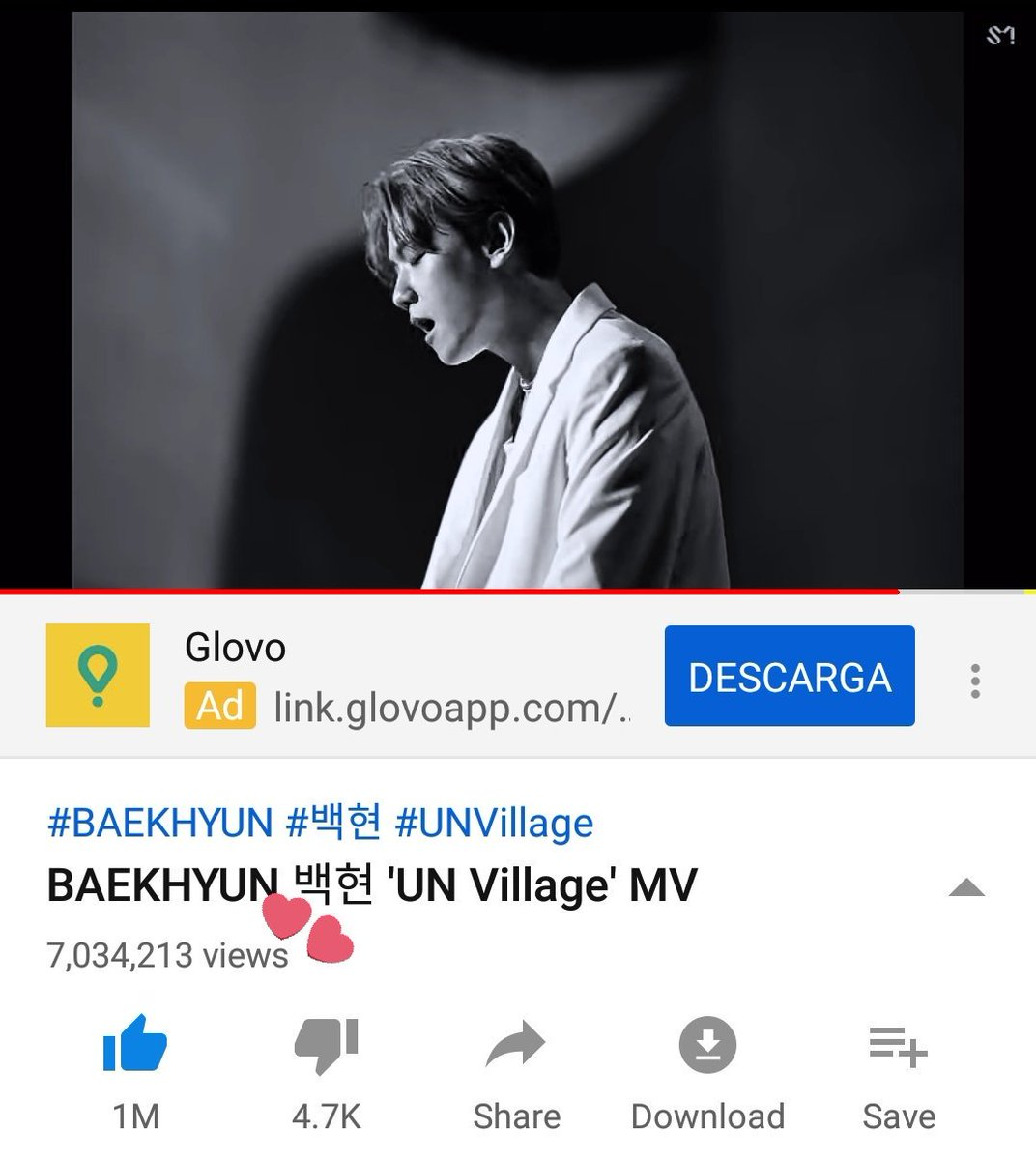 Good job Eris! 'UN Village' MV now has 7 million views on YouTube. Don't forget to share the link on your SNS.    https://www. youtube.com/watch?v=-EfjXQ gE1e8   …   #백현 #BAEKHYUN @B_hundred_Hyun #BAEKHYUN_UNVILLAGE <br>http://pic.twitter.com/xclJt4yDTh
