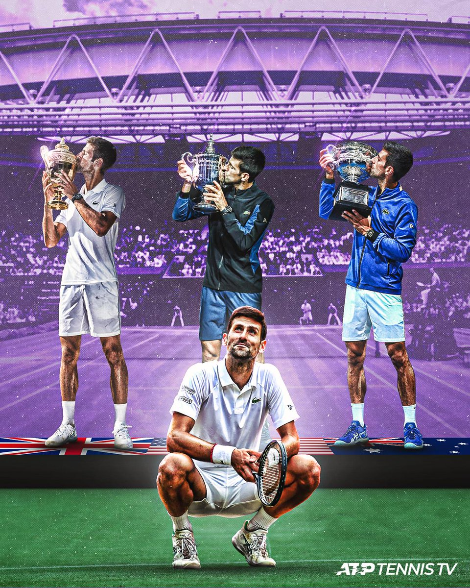 #Wimbledon 🏆US Open 🏆Australian Open 🏆Roland Garros SFWimbledon 🏆4 of the last 5 Grand Slams won. A @DjokerNole dynasty.