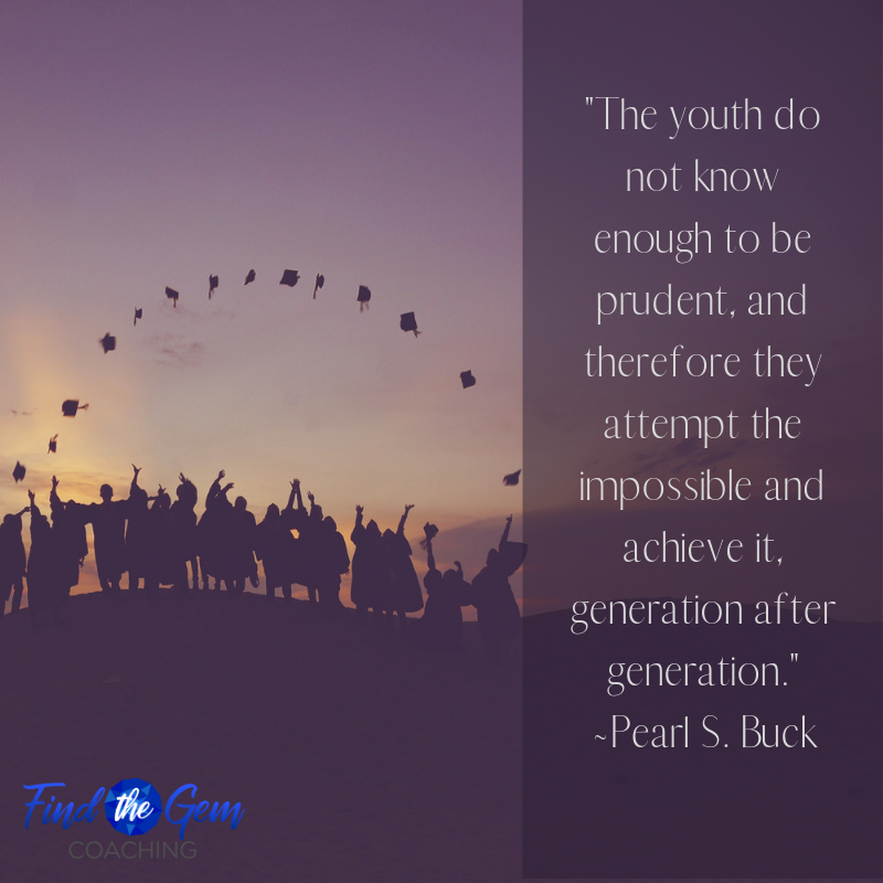"""""""The youth do not know enough to be prudent, and therefore they attempt the impossible and achieve it, generation after generation."""" ~Pearl S. Buck  #inspirationalquotesoftheday #motivationalquotesoflife #generationaftergeneration #prudent #attempt #achieveit<br>http://pic.twitter.com/LoM6jzuK5P"""