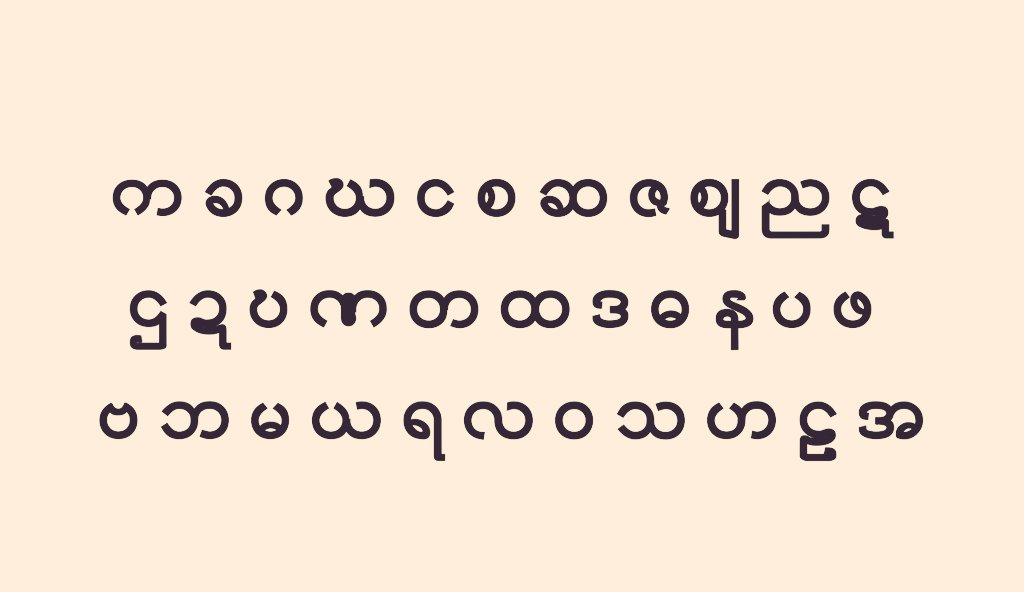 ビルマ 文字