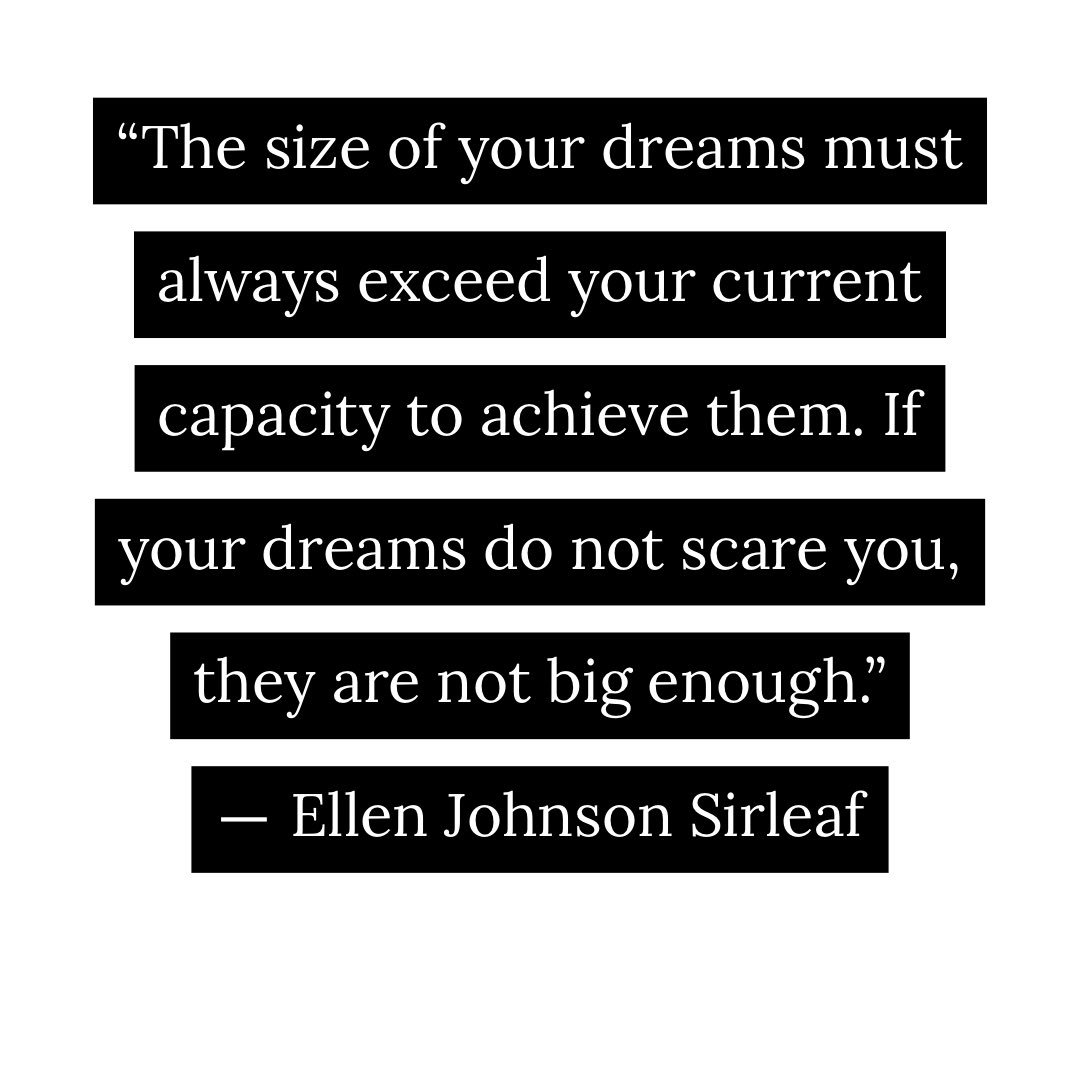 How is it a dream if it doesn't scare you? #BeAudacious @MaEllenSirleaf<br>http://pic.twitter.com/0d8ndtQpyK