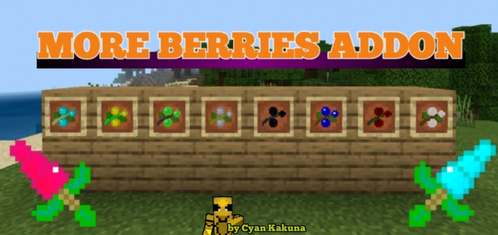 More Berries Addon - Updated! - https://mcpedl.com/more-berries-addon/… - By CyanKakuna