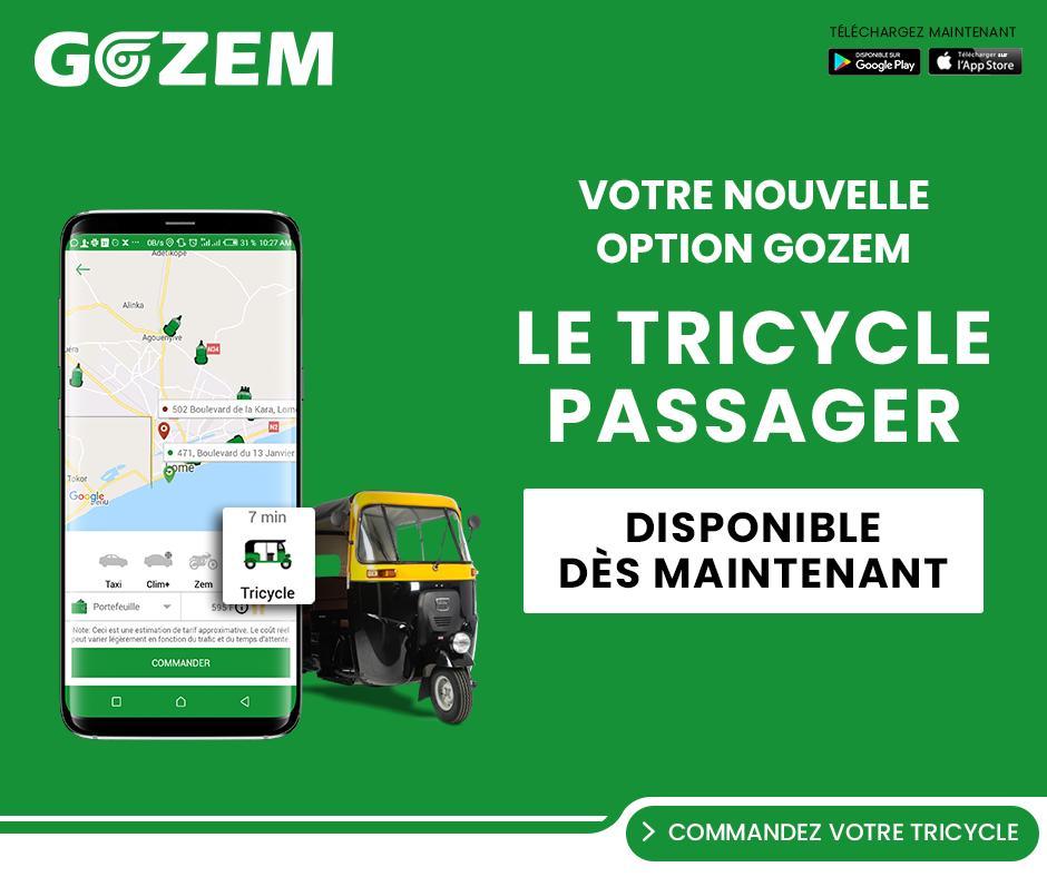 Commandez le nouveau tricycle Gozem en quelques clics😊.   C'est confortable, c'est pratique, et c'est disponible dès aujourd'hui.   Essayez-le maintenant ! C'est pas du tout cher !  #Gozem #App #Transport #Tricycle #Lomé