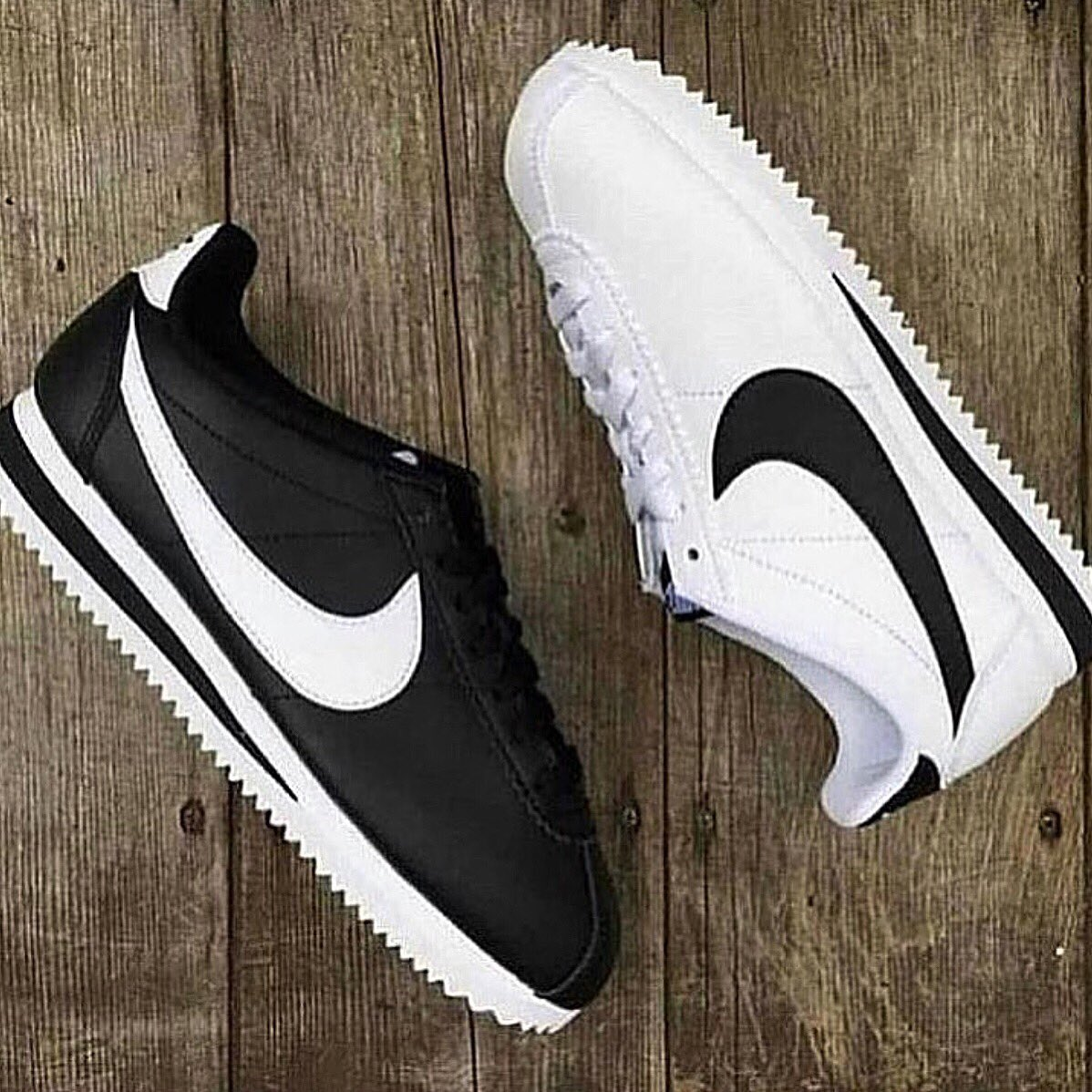 on feet at incredible prices new products Nike Classic Cortez Leather COLOR : WHITE BLACK PRICE : 3990 ...