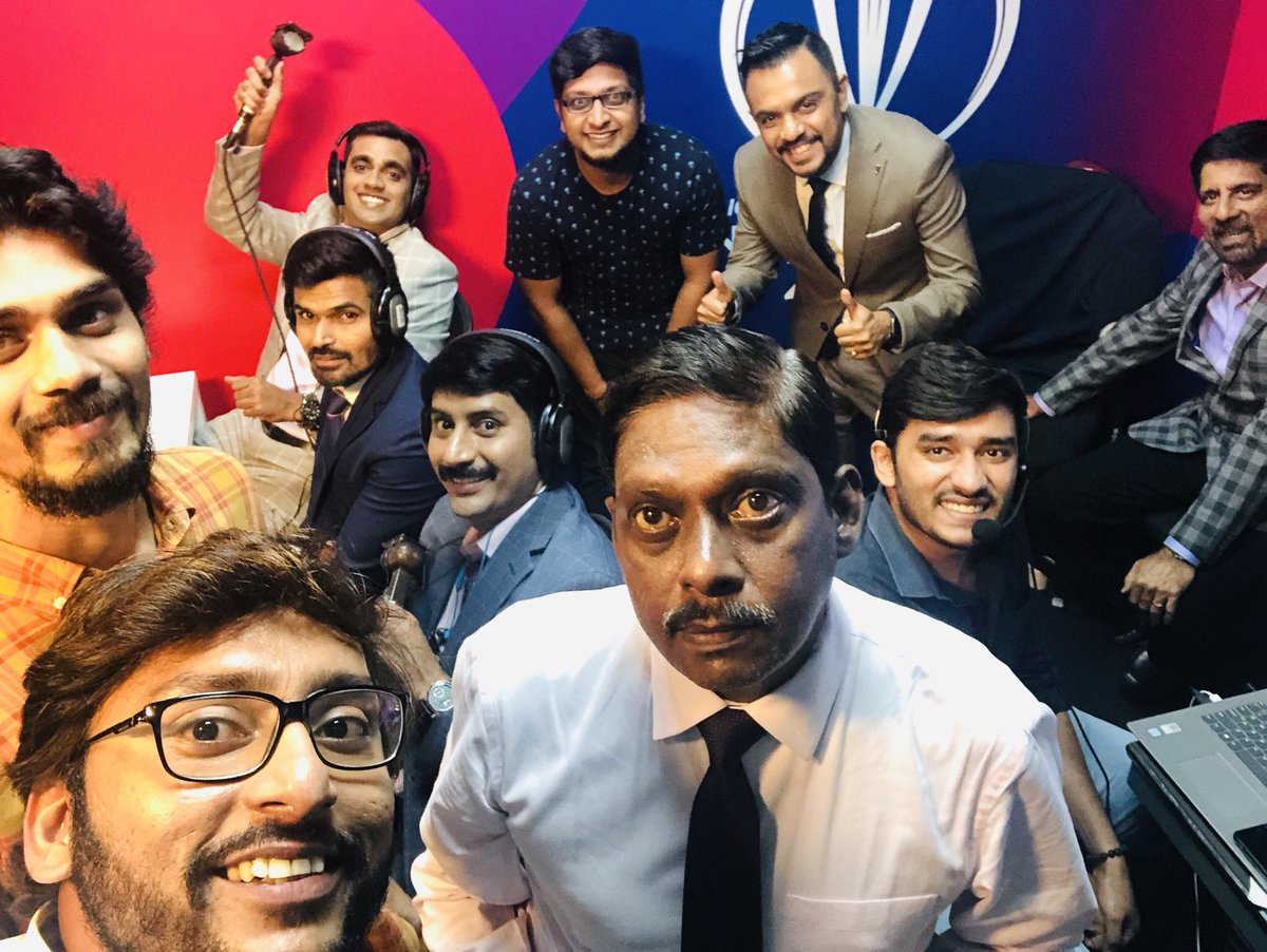 What an amazing team @StarSportsTamil is .! This young team under @sriram_madhavan is behind the massive response and ratings that we get ! Had the time of my life doing commentary for the #ICCWorldCup2019 and again truly awestruck by the reception.! Unbelievable. Thank you  <br>http://pic.twitter.com/Xr9i4S6gp3